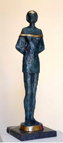 """Teenager"" Bronze sculpture 17"" x 5"" x 2"" in by Sarkis Tossonian"