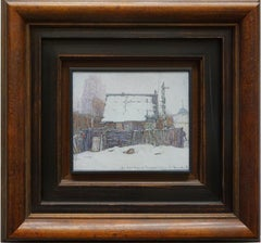 """The House Near the Monastery"" Framed 22""x24"" inch Painting by Nikita Makarov"