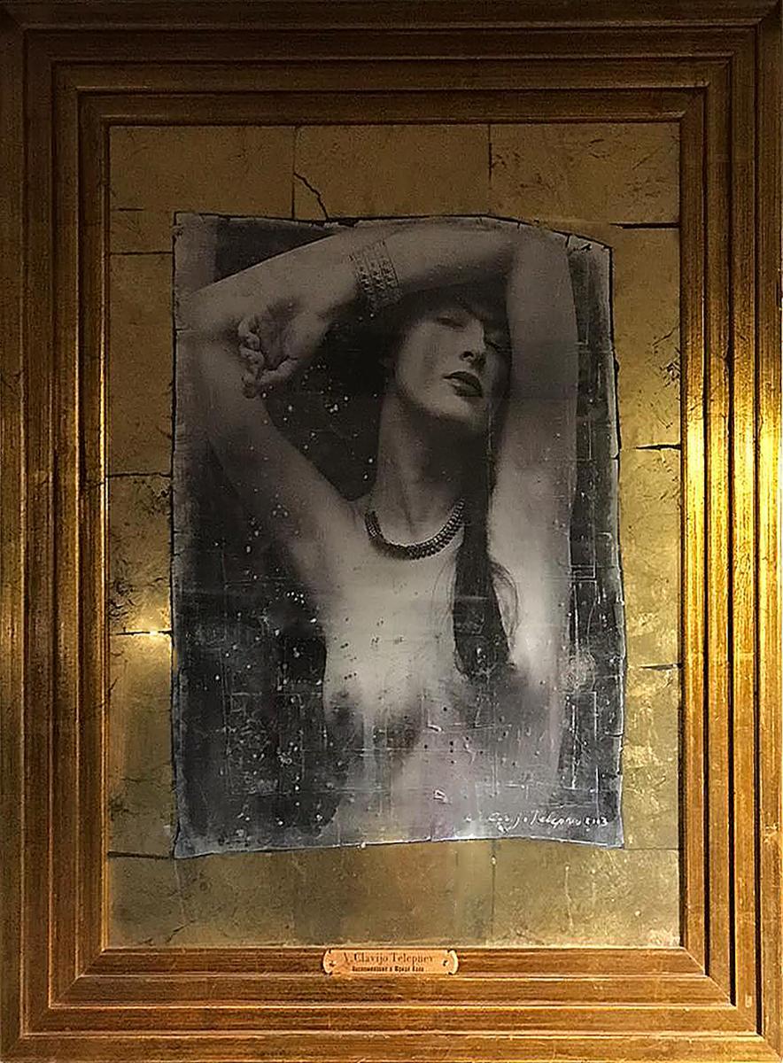 """""""Remembering Frida Kahlo"""" 26""""x21""""inch Ed 1/3 by VLADIMIR CLAVIJO-TELEPNEV"""
