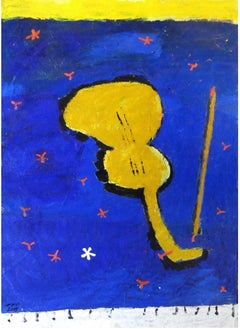 """Music II"" Oil Painting 49 ""x 30"" inch by Ashraf Zamzami"