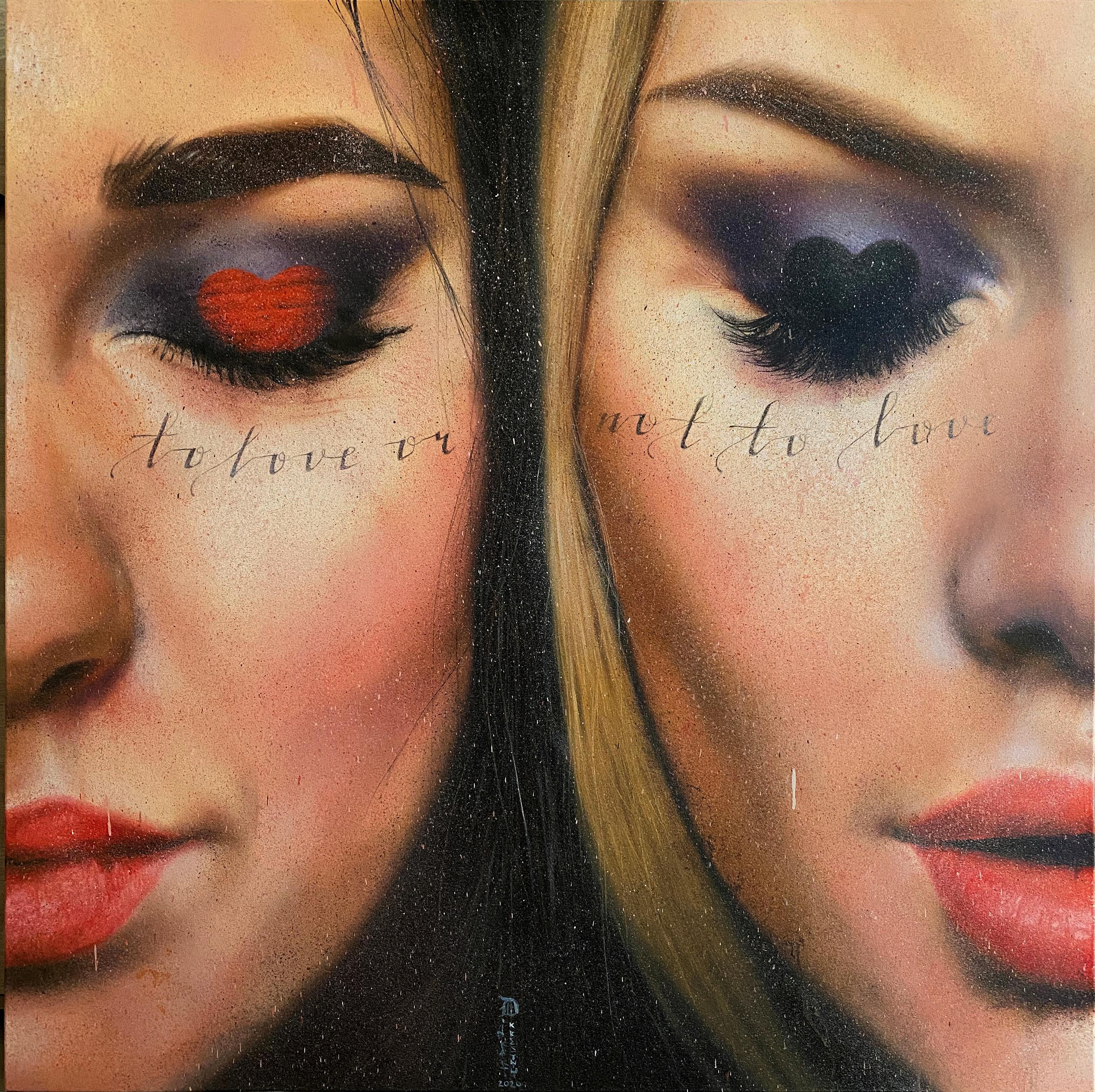 """""""Question"""" Oil painting 47"""" x 47"""" inch by Dmitriy Krestniy"""