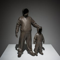 """The Godfather"" Bronze Sculpture 28""x18""x7"" inch Edition of 8 by Huang Yulong"