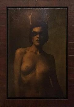"""Deer Woman"" Photography 28"" x 20"" inch Ed. 1/3 by VLADIMIR CLAVIJO-TELEPNEV"