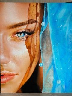 """""""Sunshine"""" Oil Painting 59"""" x 47"""" inch by Dmitriy Krestniy"""