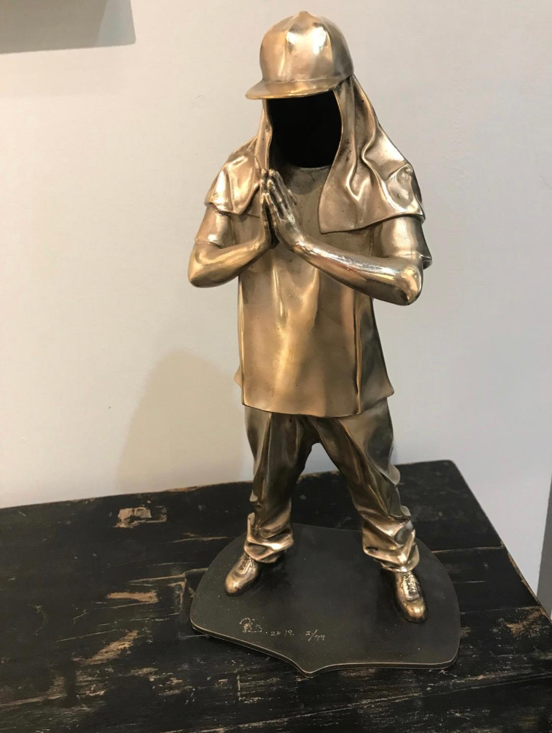 """""""Be Real"""" Bronze Sculpture 14"""" x 6"""" x 4"""" inch Edition of 699 by Huang Yulong"""