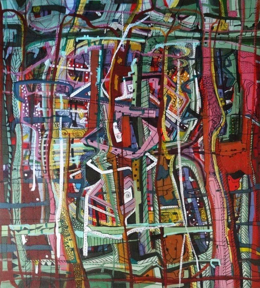 """""""Untitled"""" Oil Painting 55"""" x 35"""" inch by Ghaidaa Ashraf"""