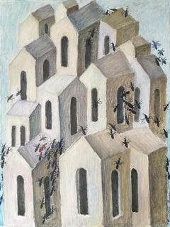 """Gorodom"" Oil Painting 31"" x 24"" inch by Valery Mishin"