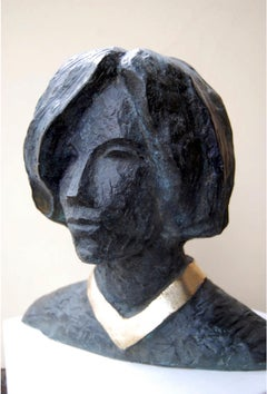 """Samantha"" Bronze Sculpture 14"" x 13"" x 9"" inch by Sarkis Tossonian"