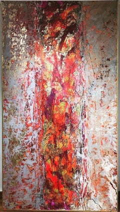 """""""The Urban Beautiful Chaos #3"""" Painting 87"""" x 47"""" inch by Ahmed Farid"""