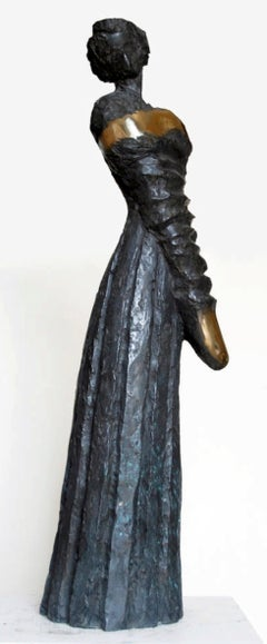 """Viscountess"" Bronze sculpture 32"" x 8"" x 9"" in by Sarkis Tossonian"