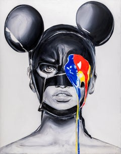 """GUILTY MICKEY MOUSE""  Print 31' x 24' inch Edition 2/35 by Edyta Grzyb"