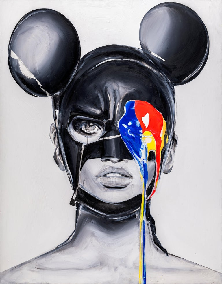 """""""GUILTY MICKEY MOUSE""""  Print 31' x 24' inch Edition 2/35 by Edyta Grzyb  Fine art pigment print on Hahnemühle, 300 g 2020 Each print is signed on the bottom margin Year / Title / Signature and has a certificate of authenticity.   Edyta Grzyb (born"""