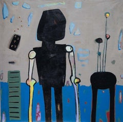 """Untitled"" Painting 39"" x 39"" inch by Ahmed Gaafary"