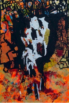 """Abyss"" Mixed Media on canvas on board 59' x 39' in by Ahmed Farid"