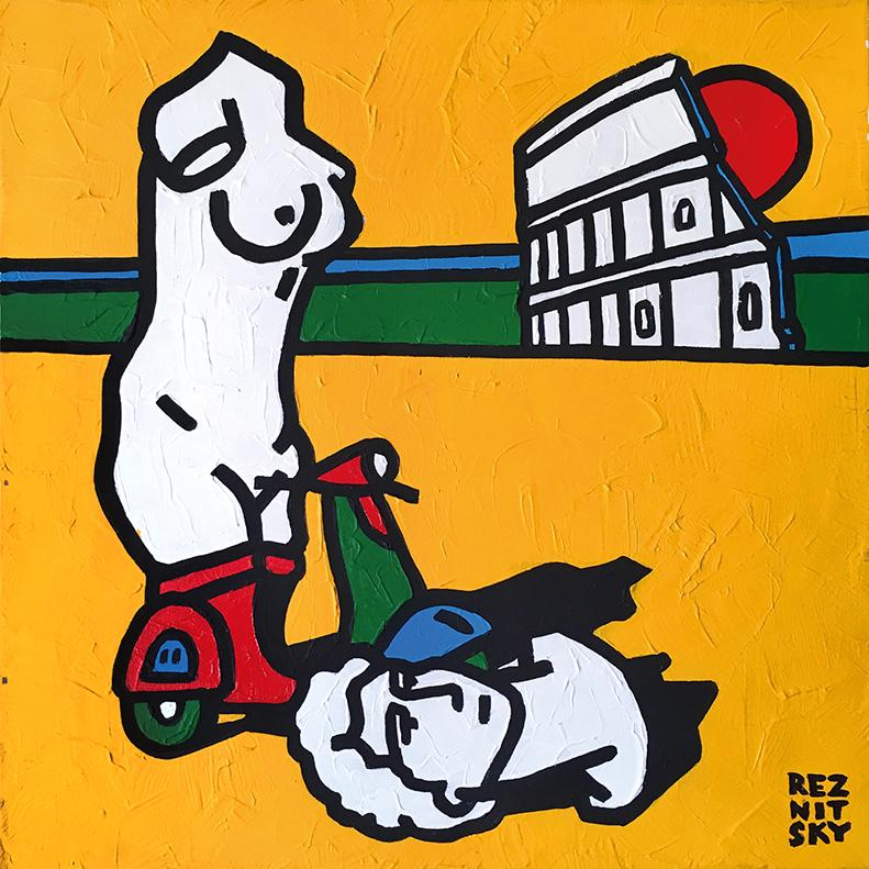 """Italy (mini)"" Acrylic Painting 20"" x 20"" inch by Roman Reznitsky"