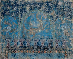 """Kemit"" Painting triptych 59"" x 78"" inch by Ibrahim Khatab"