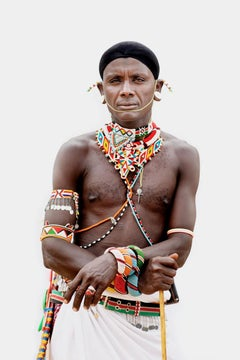 """Samburu Warrior"" Photography 40"" x 26.5"" inch Edition 2/7 by Safaa Kagan"