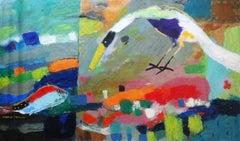 """Under Water"" Oil Painting 39"" x 75"" inch by Ashraf Zamzami"