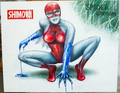 """Spider Woman"" Oil painting 31"" x 39"" inch by Alina Shimova"