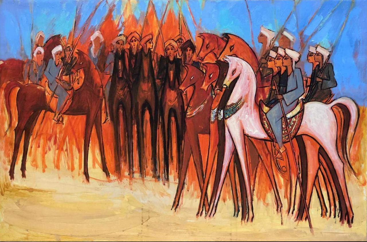 """Elmermah"" Oil Painting 39"" x 59"" inch by Alaa Awad"