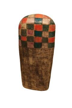 Large Ceramic Pot - Abstract Primitive Sculpture Art