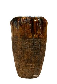 Abstract Primitive Art - Large Ceramic Pottery Sculpture Hand Built Coil Method