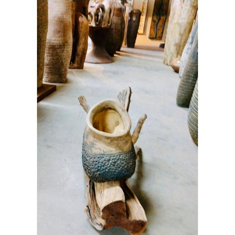 Organic Tree Root Palm Springs Pottery Planter  For Sale 1