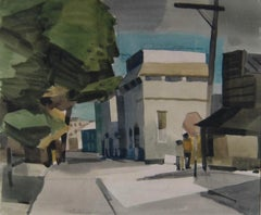 San Francisco Street Scene Watercolor by George Post