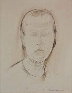 Early American Modernist Portrait of a Young Woman by Artist William Zorach