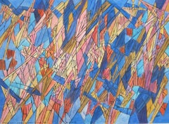 Hildegarde Haas 1960s abstract painting from her classical music series