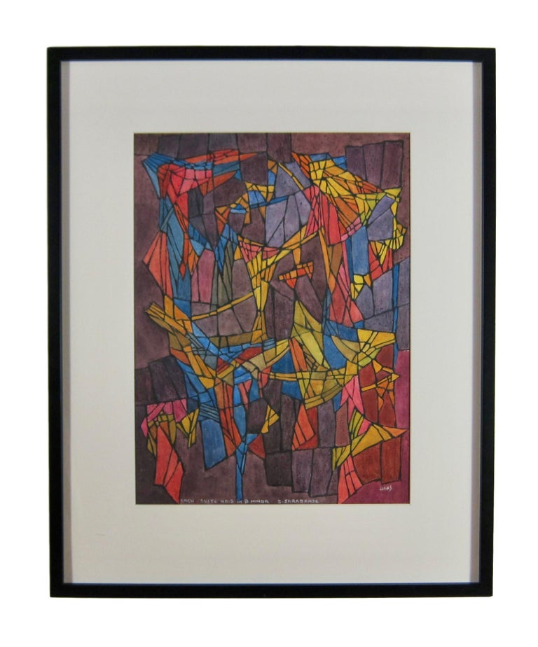 Abstract painting - 'Bach - Suite No.2 in B Minor - 3 Sarabande' - Art by Hildegarde Haas