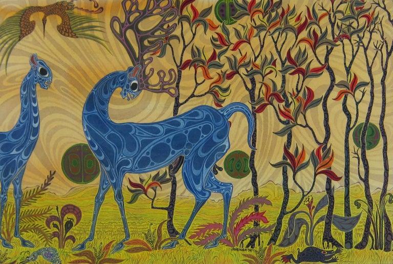 Jesse Patrick Allen Landscape Art - African Fantasy World Watercolor by Artist Jesse Allen