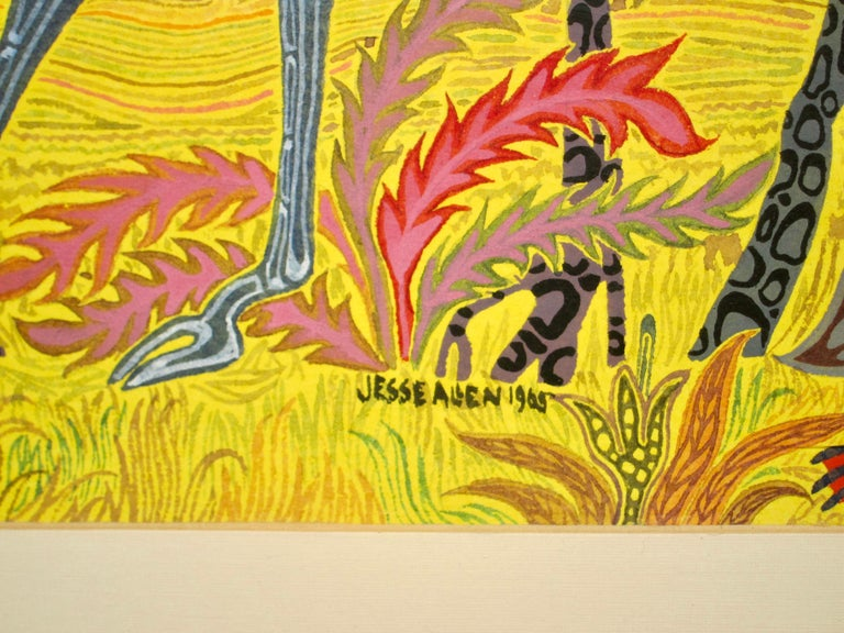 African Fantasy World Watercolor by Artist Jesse Allen For Sale 4