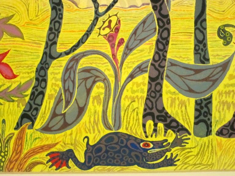 African Fantasy World Watercolor by Artist Jesse Allen For Sale 2
