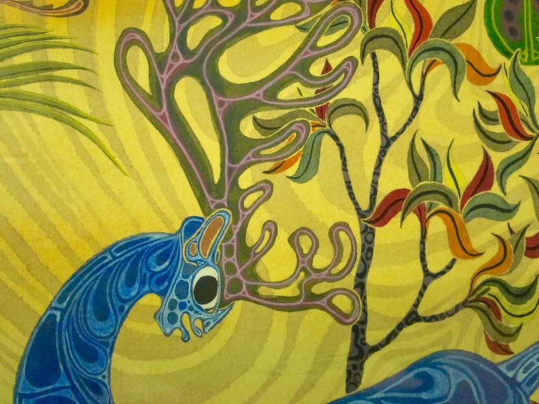 African Fantasy World Watercolor by Artist Jesse Allen For Sale 1