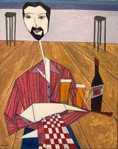 French Contemporary Art by Abraham Dayan - Le Garçon de Café