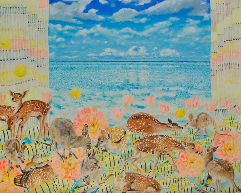 Teppei Ikehila Figurative Painting - Beyond the Ocean Beyond Belief