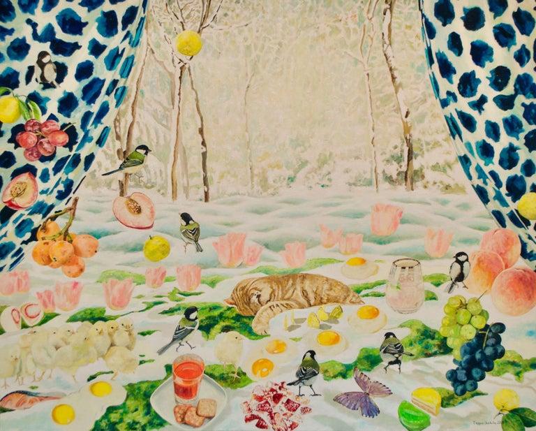 Teppei Ikehila Figurative Painting - Snow Draws