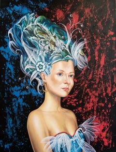 Cuban Contemporary Art by Carlos Sablon Perez - Femme au Chapeau