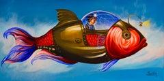 Cuban Contemporary Art by Carlos Sablon Perez - Le Voyage Fantastique I