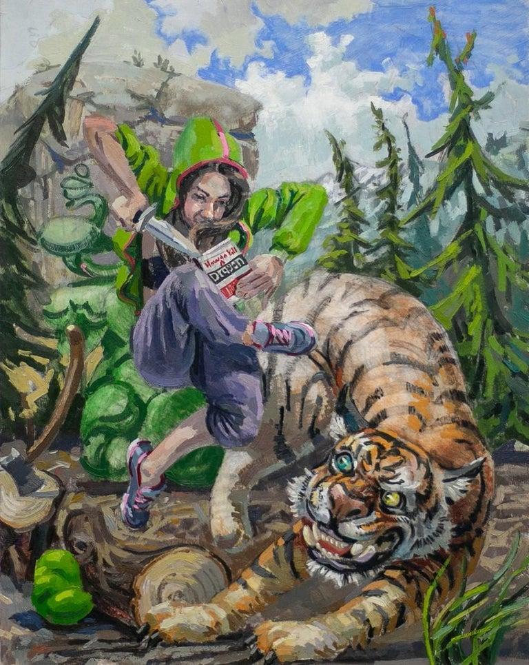 Benjamin Duke Still-Life Painting - How to Kill a Dragon ?