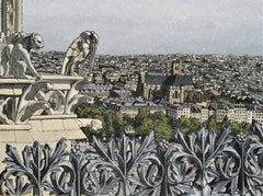 1905 - Eglise St Gervais depuis Notre-Dame de Paris