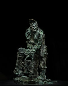 Russian Contemporary Sculpture by Alexander Sviyazov - Village. Gaining water