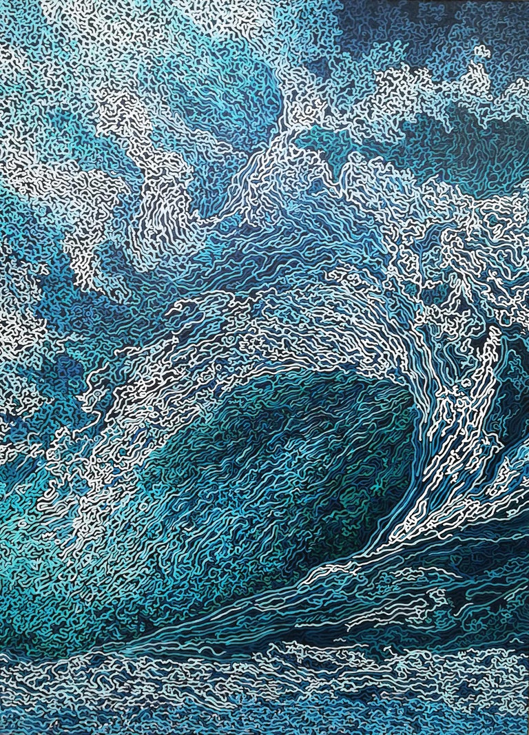 Diana Torje Landscape Painting - SYMPHONY OF THE OCEAN