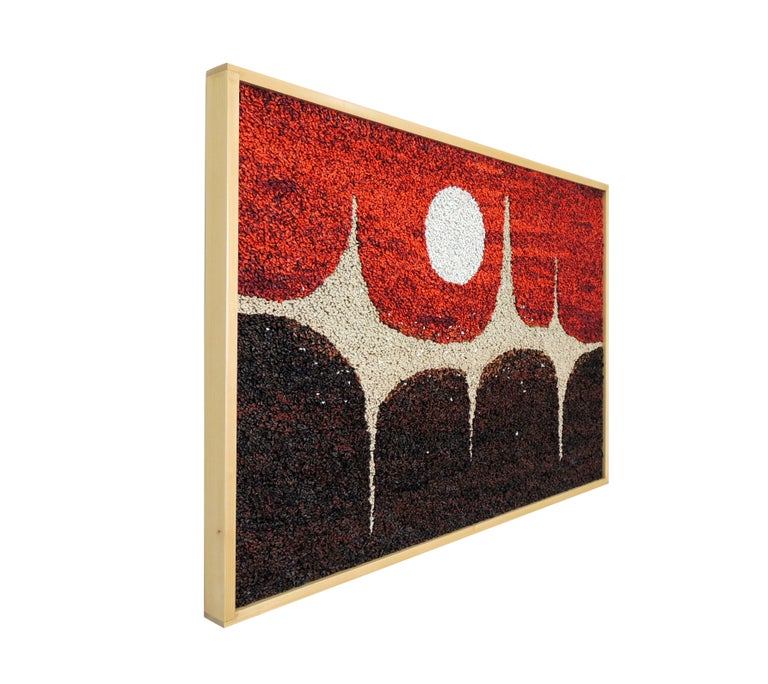 Title: Milky Way II Year: 2019 Composition: 3D artwork, acrylic on corrugated cardboard.  Artwork made from about 45000 sticks of hand painted corrugated cardboard pasted in a wooden enclosure Dimensions: 36.5 x 24.5 x 1.7 inches.