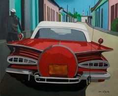 French Contemporary Art by Anne du Planty - Red Trinidad