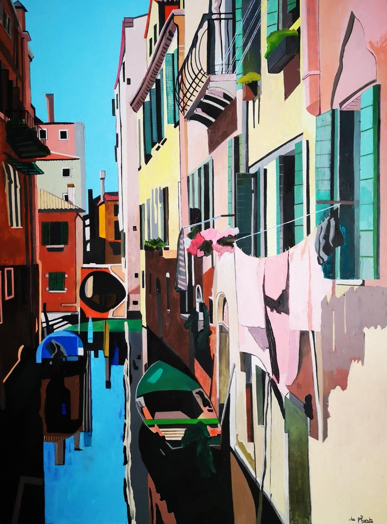 Anne du Planty Figurative Painting - Venise Rose
