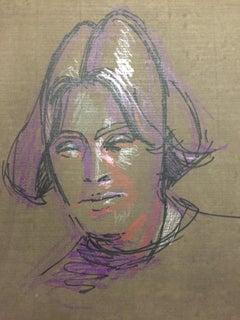 French Modern Drawing by Jean Hélion - Portrait de Femme