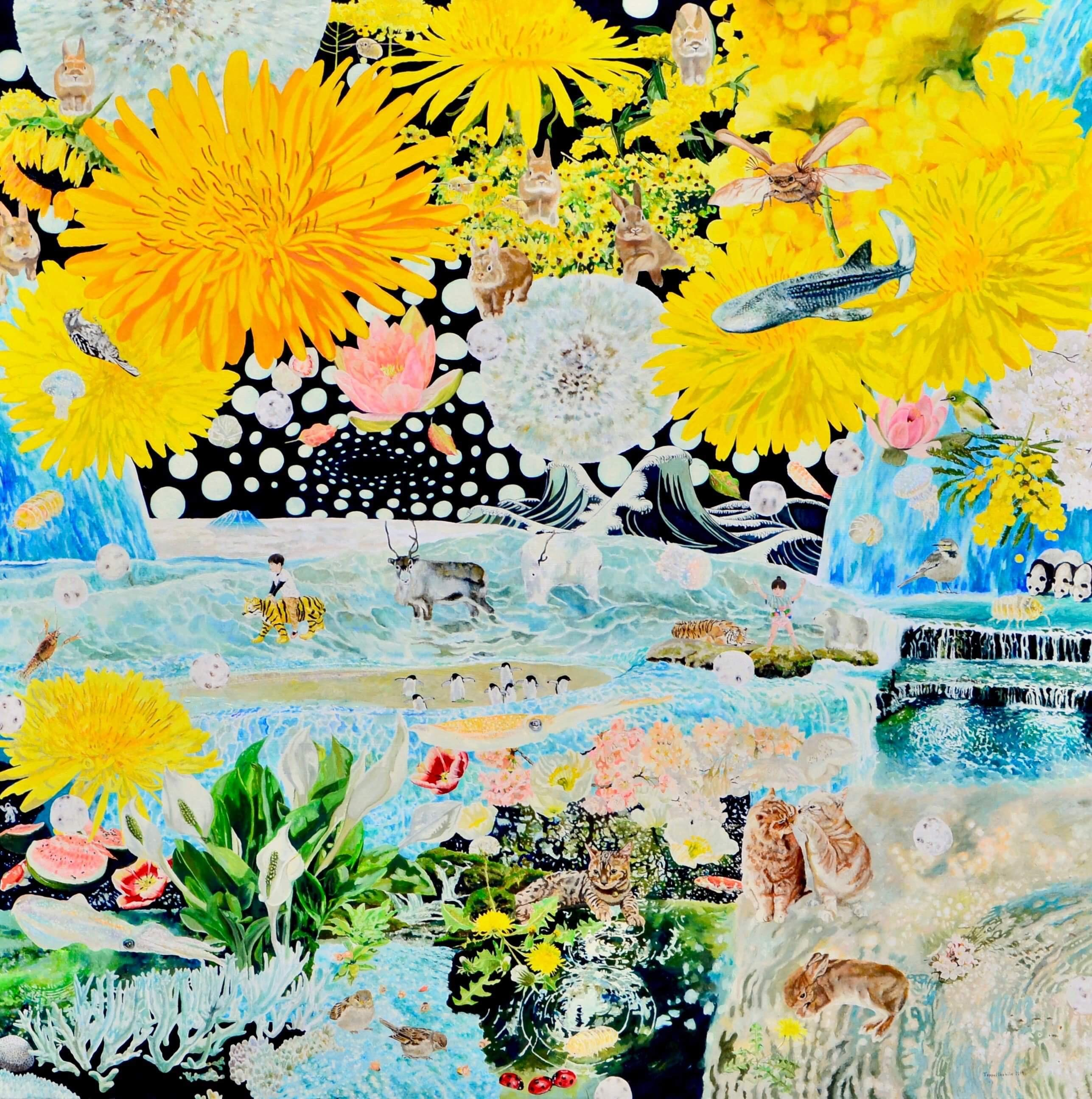 Japanese Contemporary Art by Teppei Ikehila - Outside of Sight Breath
