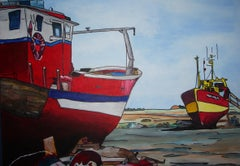 French Contemporary Art by Joël Fougman - Bateau Rouge